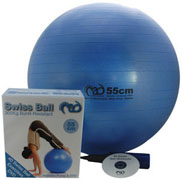 Fitness Mad 300kg Burst-Resistant Swiss Ball and Pump 75cm
